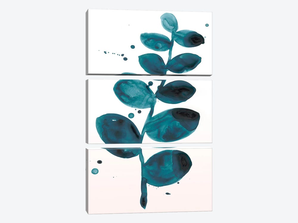 Stems In Indigo I by June Erica Vess 3-piece Canvas Artwork