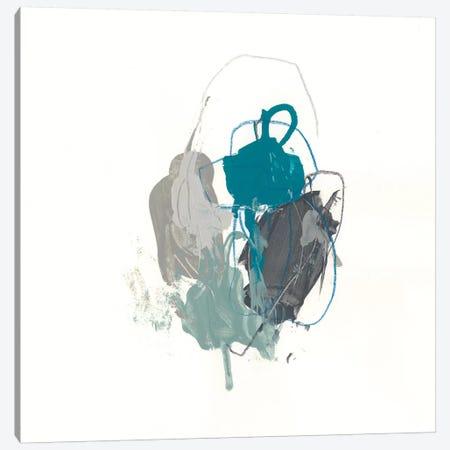 Teal Gesture I Canvas Print #JEV1150} by June Erica Vess Art Print