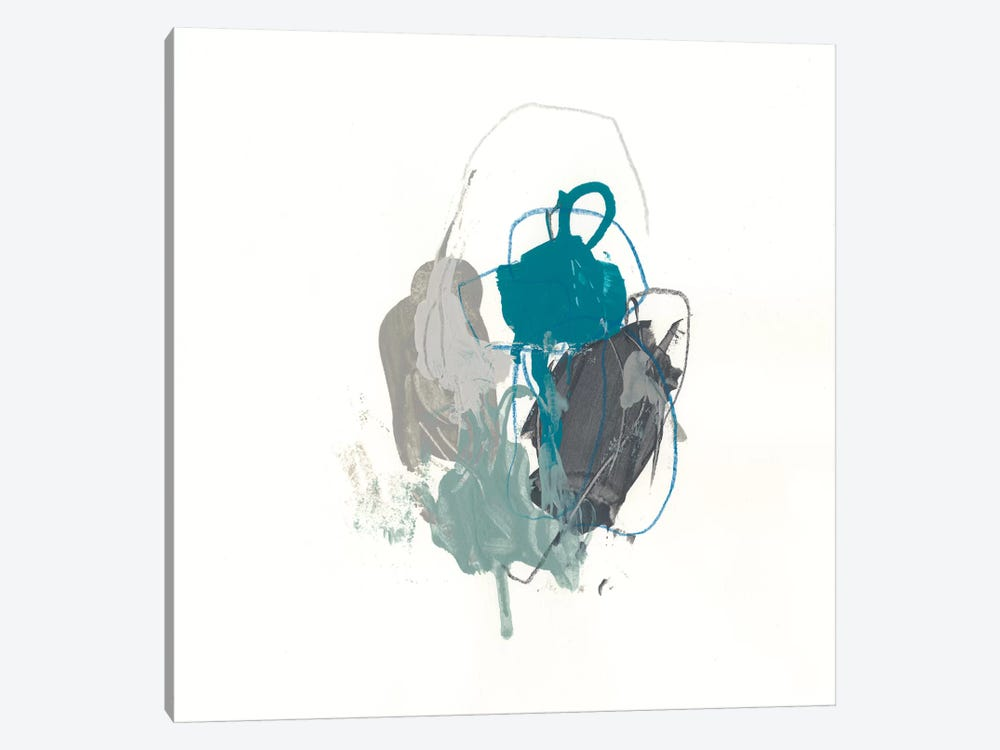Teal Gesture I by June Erica Vess 1-piece Canvas Print