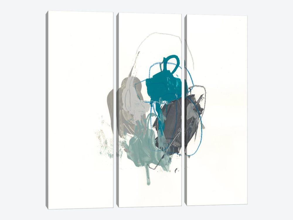 Teal Gesture I by June Erica Vess 3-piece Art Print