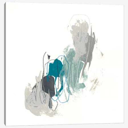 Teal Gesture II Canvas Print #JEV1151} by June Erica Vess Art Print
