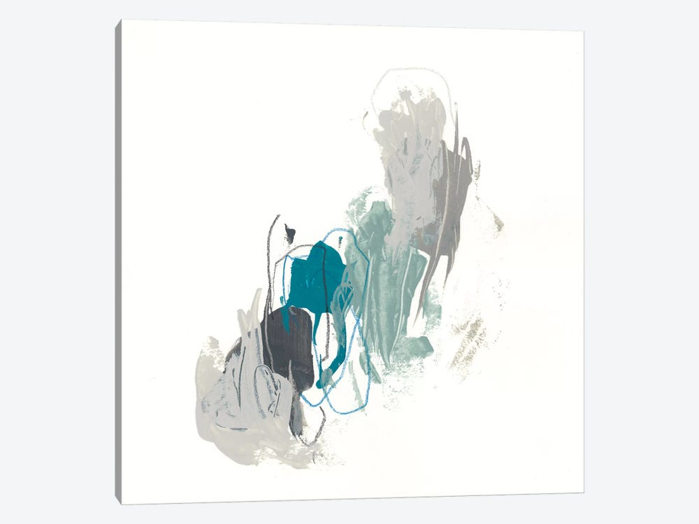 Teal Gesture II by June Erica Vess 1-piece Canvas Wall Art