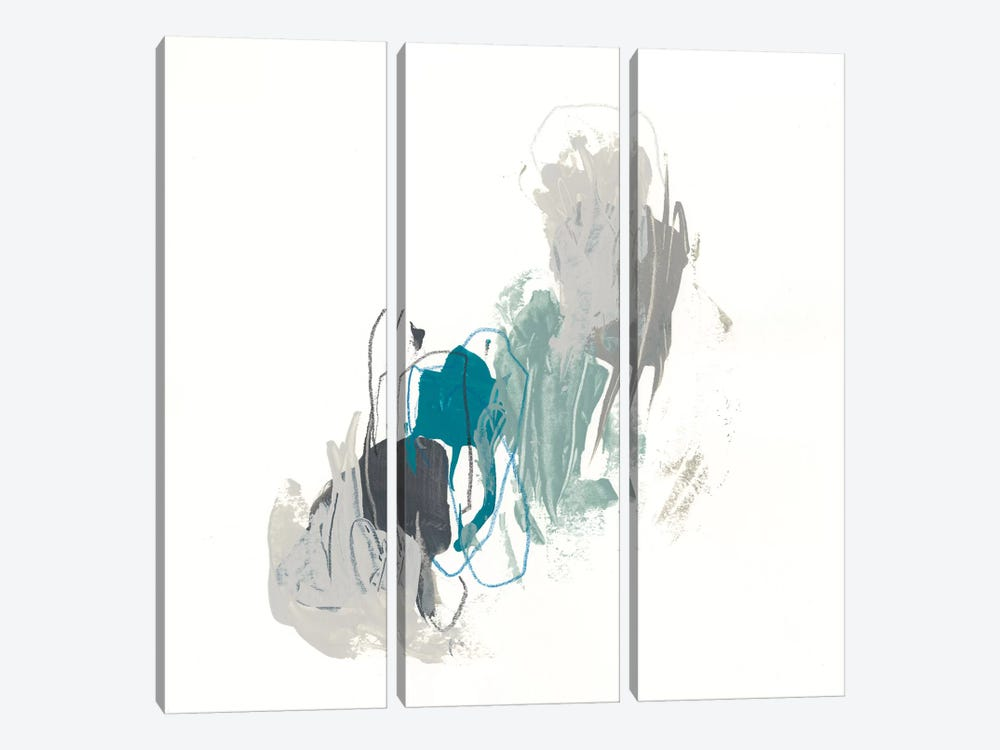 Teal Gesture II by June Erica Vess 3-piece Canvas Wall Art