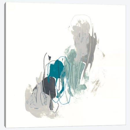 Teal Gesture II Canvas Print #JEV1151} by June Erica Vess Art Print