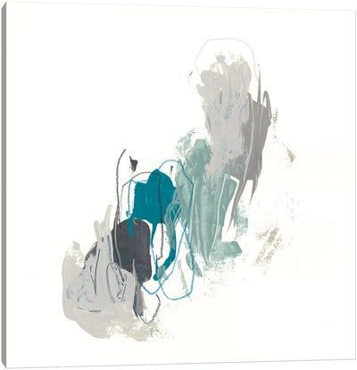Teal Gesture II Canvas Art Print