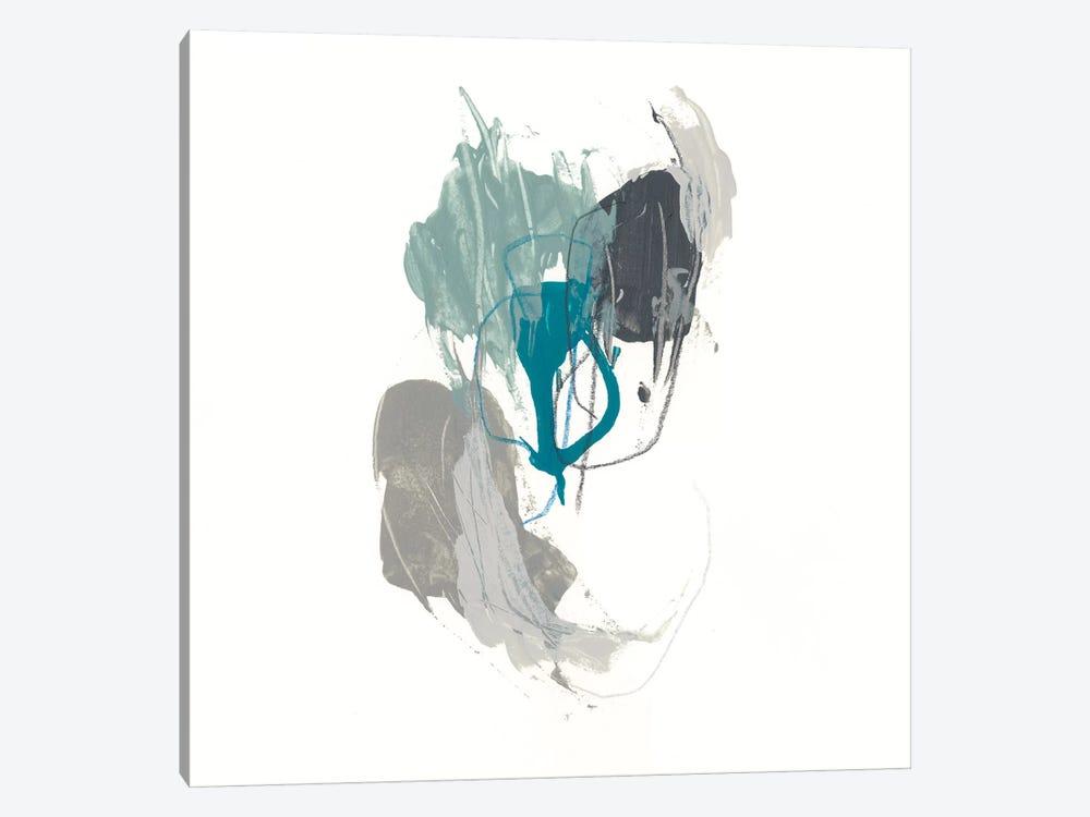 Teal Gesture III by June Erica Vess 1-piece Canvas Print