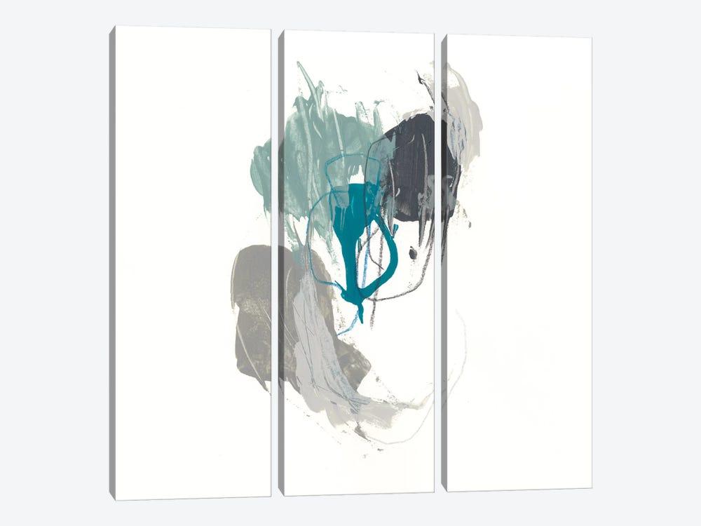 Teal Gesture III by June Erica Vess 3-piece Art Print