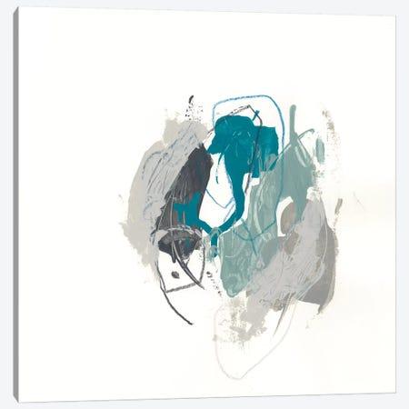 Teal Gesture IV Canvas Print #JEV1153} by June Erica Vess Canvas Art Print