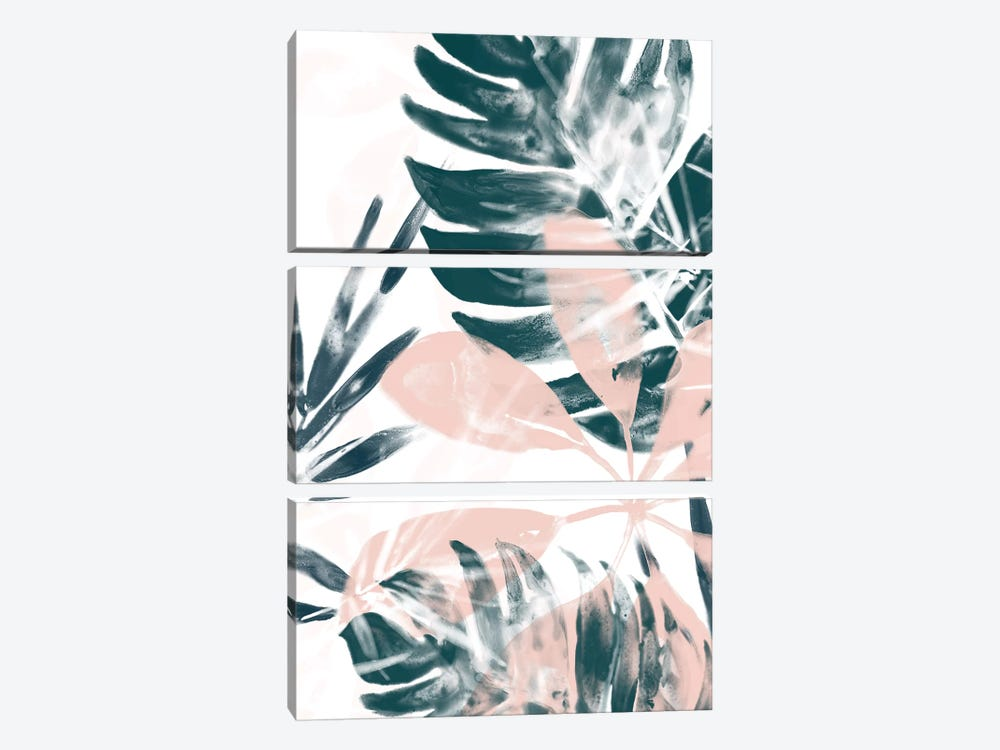 Tropical Blush II by June Erica Vess 3-piece Canvas Art