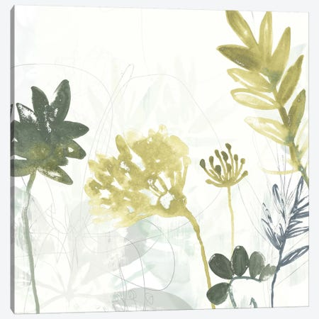 Tropical Stems I Canvas Print #JEV1156} by June Erica Vess Canvas Artwork