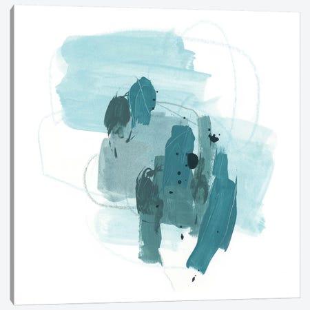 Aqua Stellar I Canvas Print #JEV1158} by June Erica Vess Canvas Art Print