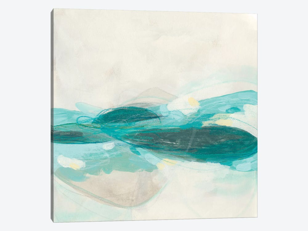 Aquamarine I by June Erica Vess 1-piece Canvas Art
