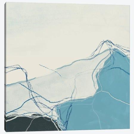 Blue Peaks I Canvas Print #JEV1183} by June Erica Vess Canvas Artwork