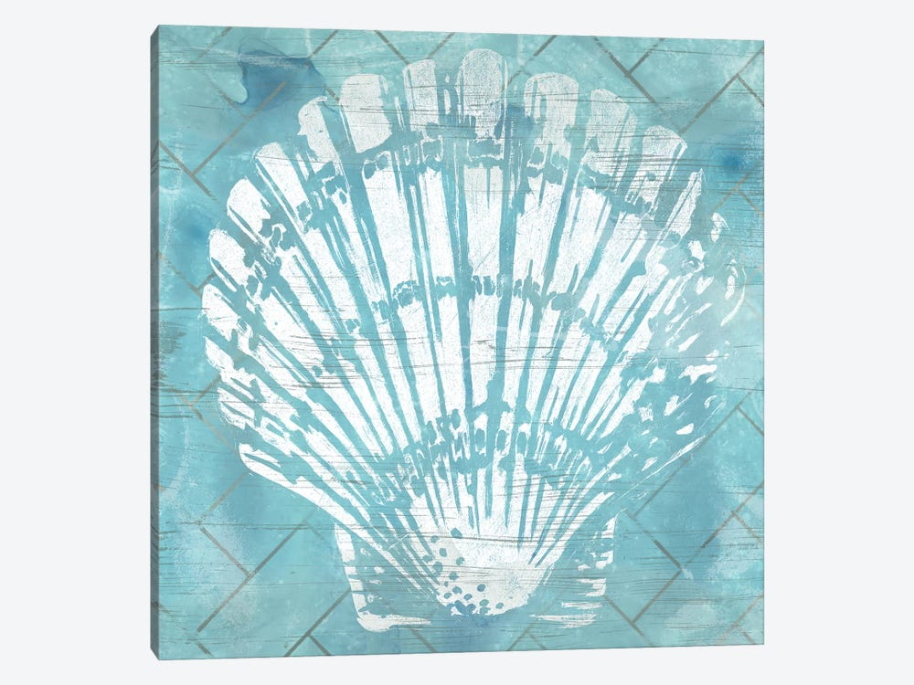Cerulean Shell I by June Erica Vess 1-piece Canvas Art Print