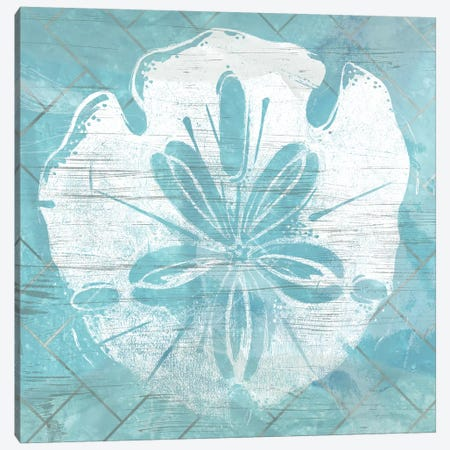 Cerulean Shell IV Canvas Print #JEV1210} by June Erica Vess Canvas Artwork