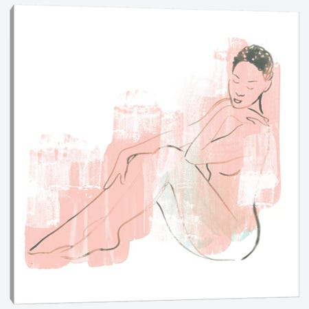 Colorblock Figure I Canvas Print #JEV1222} by June Erica Vess Canvas Print