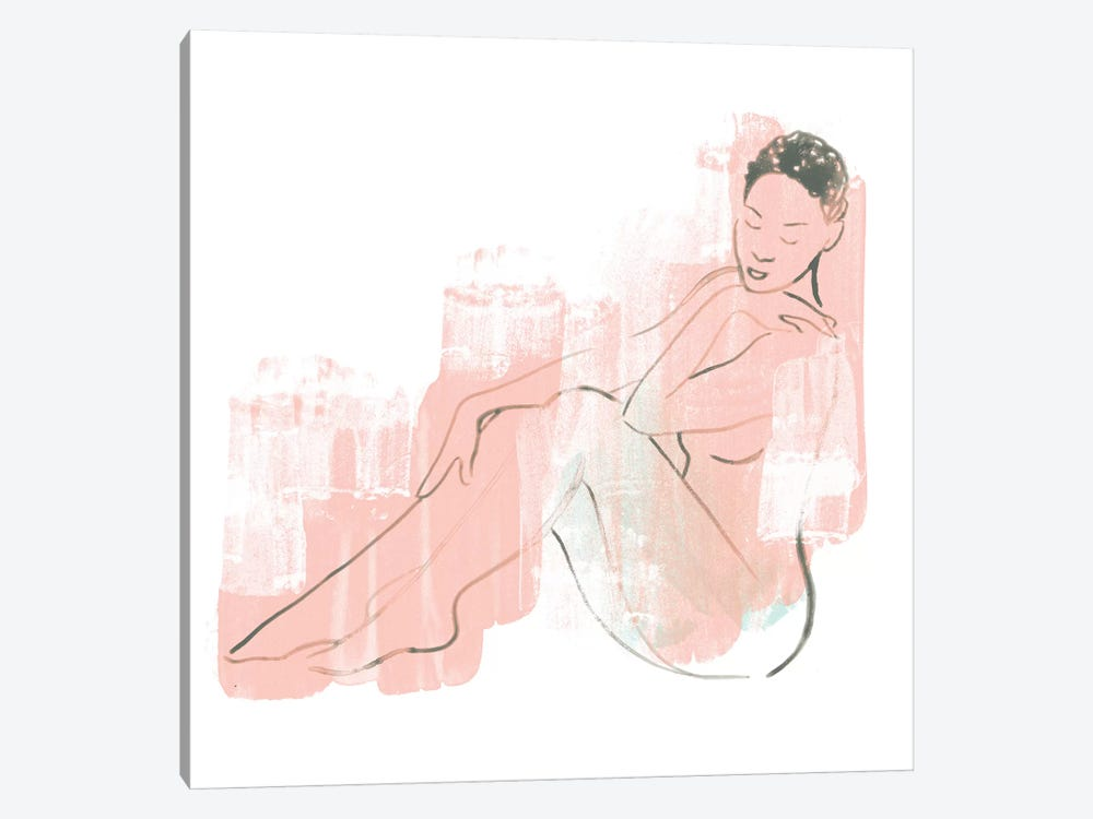 Colorblock Figure I by June Erica Vess 1-piece Canvas Artwork