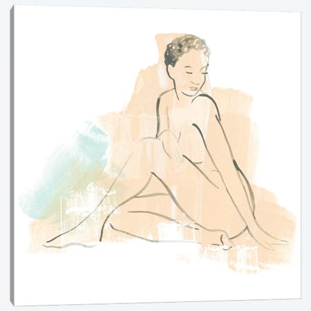Colorblock Figure II Canvas Print #JEV1223} by June Erica Vess Art Print