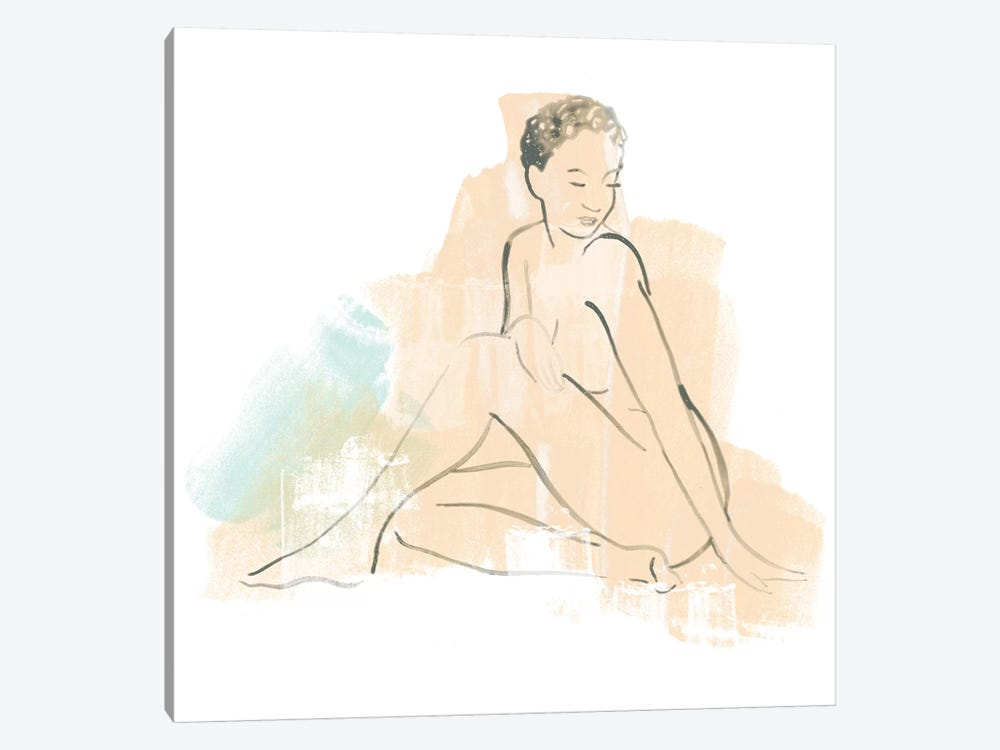 Colorblock Figure II by June Erica Vess 1-piece Art Print