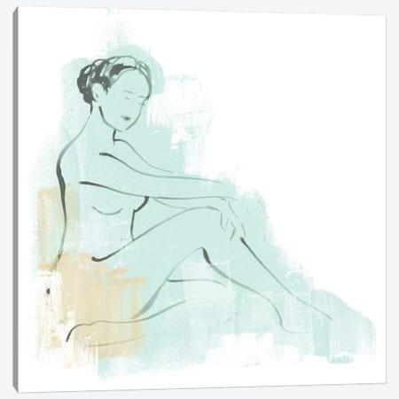 Colorblock Figure III Canvas Print #JEV1224} by June Erica Vess Canvas Artwork