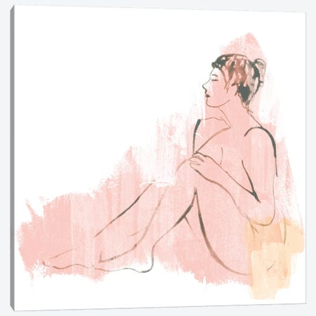 Colorblock Figure IV Canvas Print #JEV1225} by June Erica Vess Canvas Wall Art