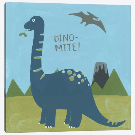 Dino-mite II Canvas Print #JEV1227} by June Erica Vess Canvas Wall Art