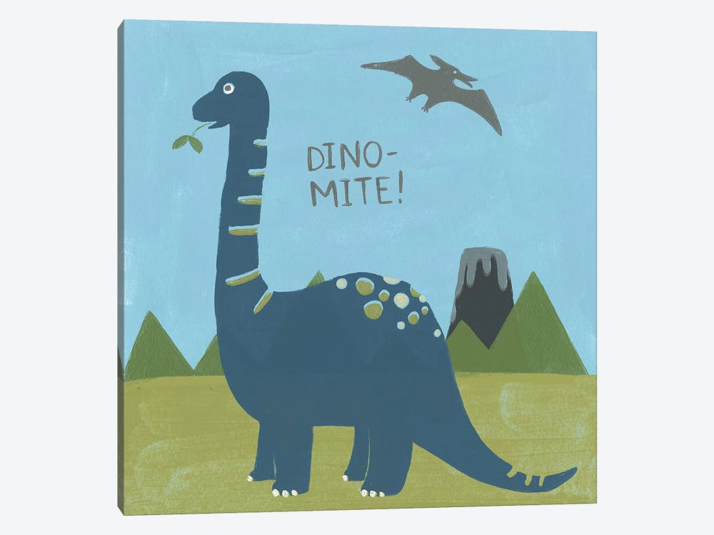 Dino-mite II by June Erica Vess 1-piece Canvas Print