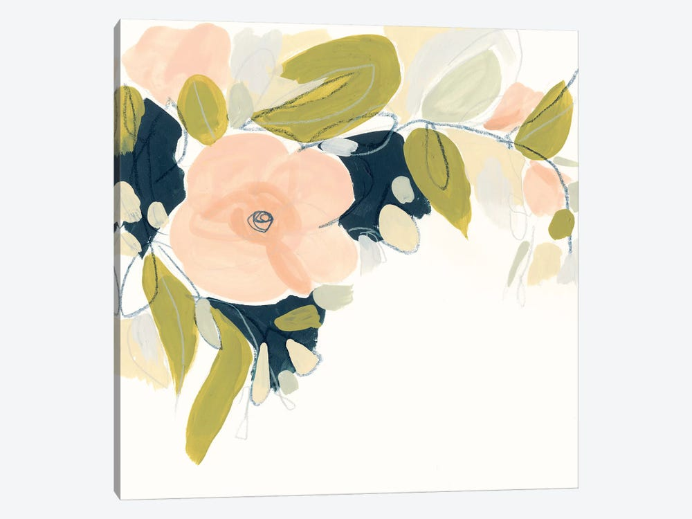 Floral Vale I by June Erica Vess 1-piece Canvas Art