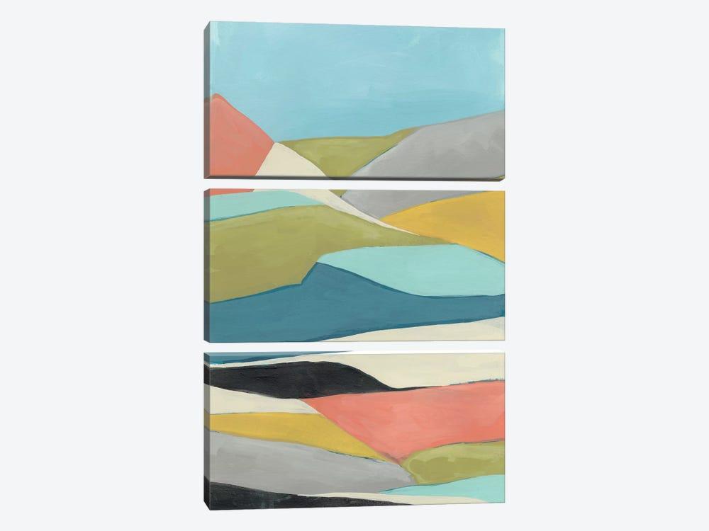 Geoscape II by June Erica Vess 3-piece Canvas Print