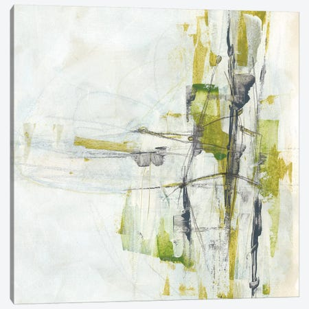 Green Glass II 3-Piece Canvas #JEV1251} by June Erica Vess Canvas Wall Art