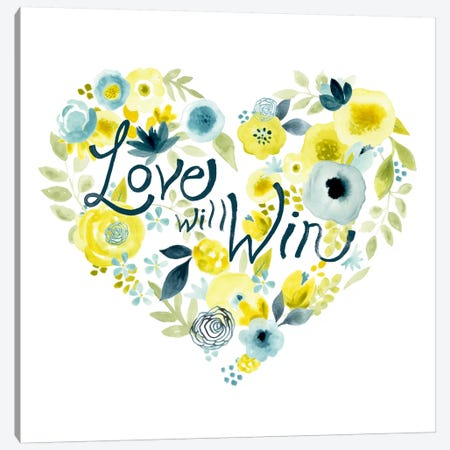 Heartfelt Floral II Canvas Print #JEV130} by June Erica Vess Canvas Wall Art