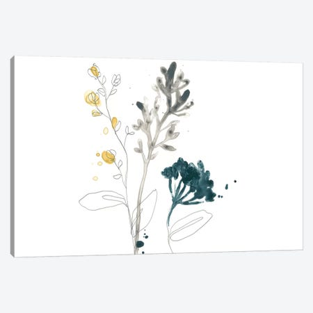 Navy Garden Inspiration I Canvas Print #JEV1320} by June Erica Vess Canvas Wall Art