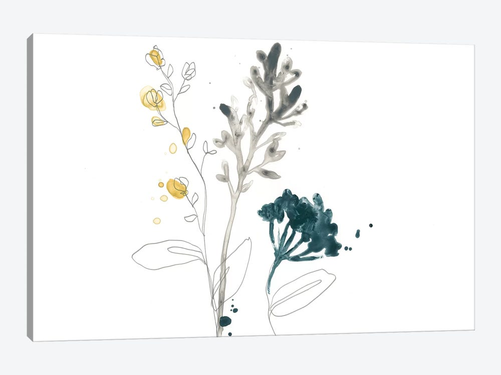 Navy Garden Inspiration I by June Erica Vess 1-piece Canvas Art Print