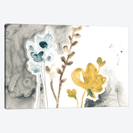 Navy Garden Inspiration II Canvas Print #JEV1321} by June Erica Vess Canvas Wall Art