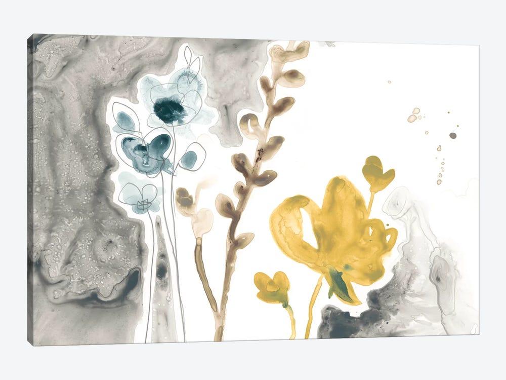 Navy Garden Inspiration II by June Erica Vess 1-piece Canvas Art