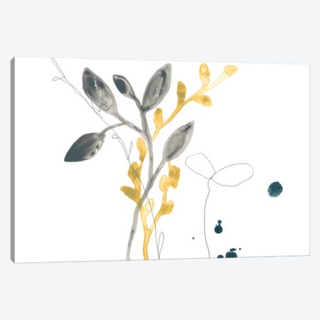 Navy Garden Inspiration III 3-Piece Canvas #JEV1322} by June Erica Vess Canvas Wall Art