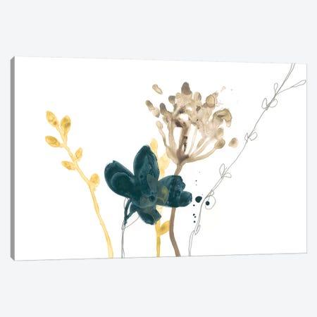 Navy Garden Inspiration IX Canvas Print #JEV1324} by June Erica Vess Canvas Print