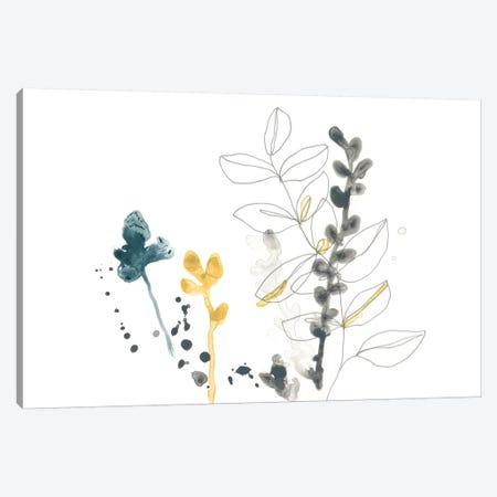Navy Garden Inspiration VIII 3-Piece Canvas #JEV1328} by June Erica Vess Canvas Art
