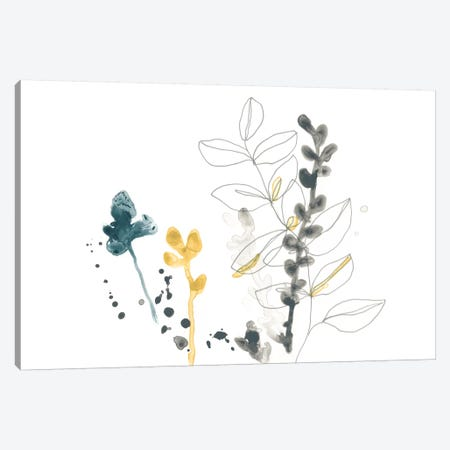 Navy Garden Inspiration VIII Canvas Print #JEV1328} by June Erica Vess Canvas Art
