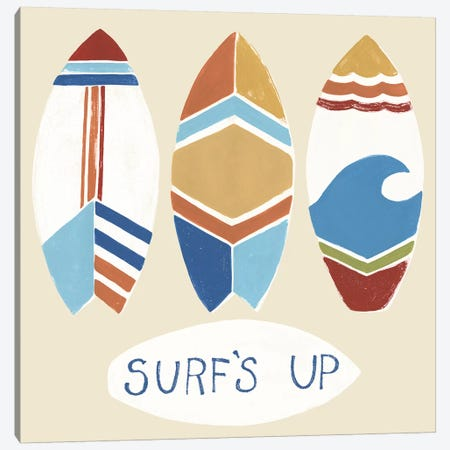 Surf's Up! I Canvas Print #JEV1380} by June Erica Vess Canvas Artwork