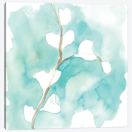 Teal and Ochre Ginko VII Canvas Print #JEV1401} by June Erica Vess Art Print