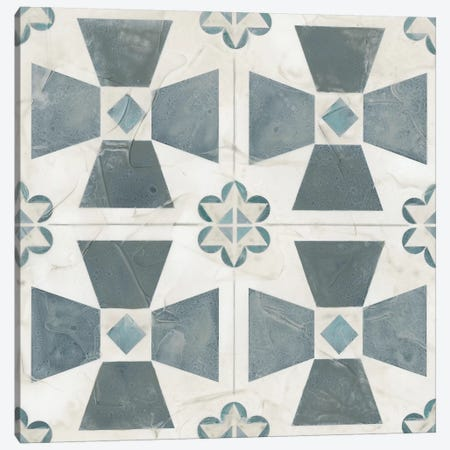Teal Tile Collection IV 3-Piece Canvas #JEV1406} by June Erica Vess Canvas Wall Art