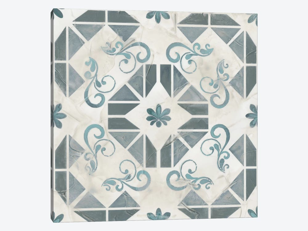 Teal Tile Collection VI by June Erica Vess 1-piece Art Print