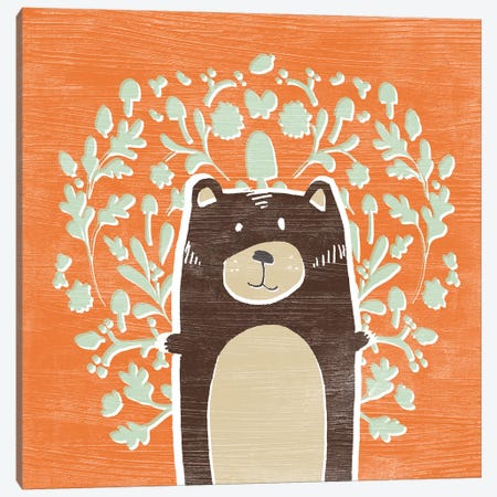 Woodland Cutie I Canvas Print #JEV1447} by June Erica Vess Canvas Artwork