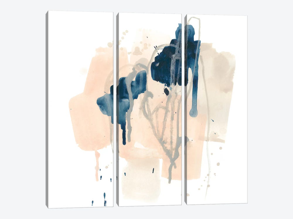 Azurite II by June Erica Vess 3-piece Canvas Artwork