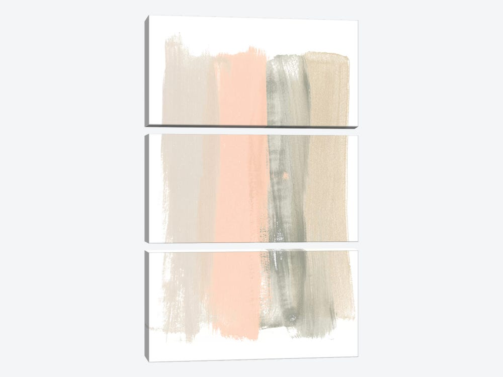 Blush Abstract II by June Erica Vess 3-piece Canvas Art Print