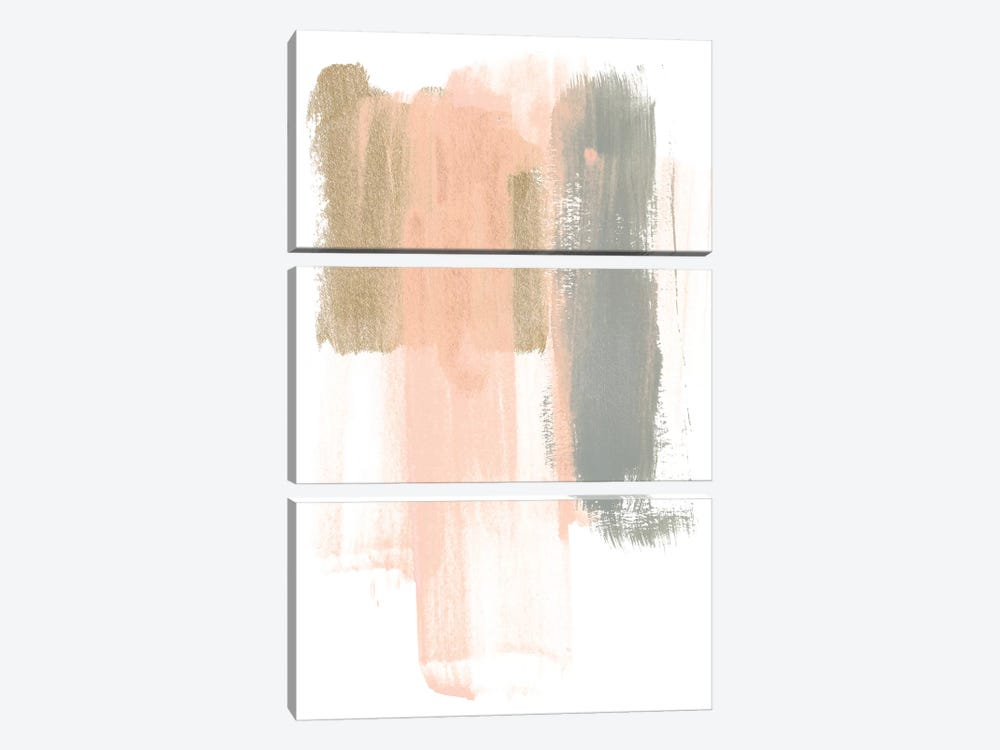 Blush Abstract IV by June Erica Vess 3-piece Art Print