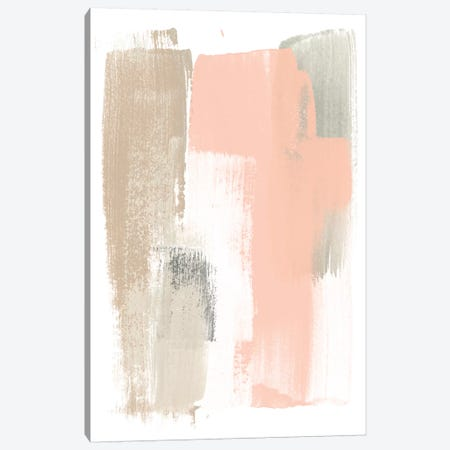 Blush Abstract VI 3-Piece Canvas #JEV1475} by June Erica Vess Canvas Art Print