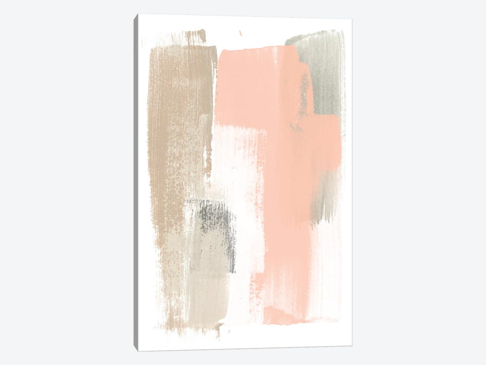 Blush Abstract VI by June Erica Vess 1-piece Canvas Artwork