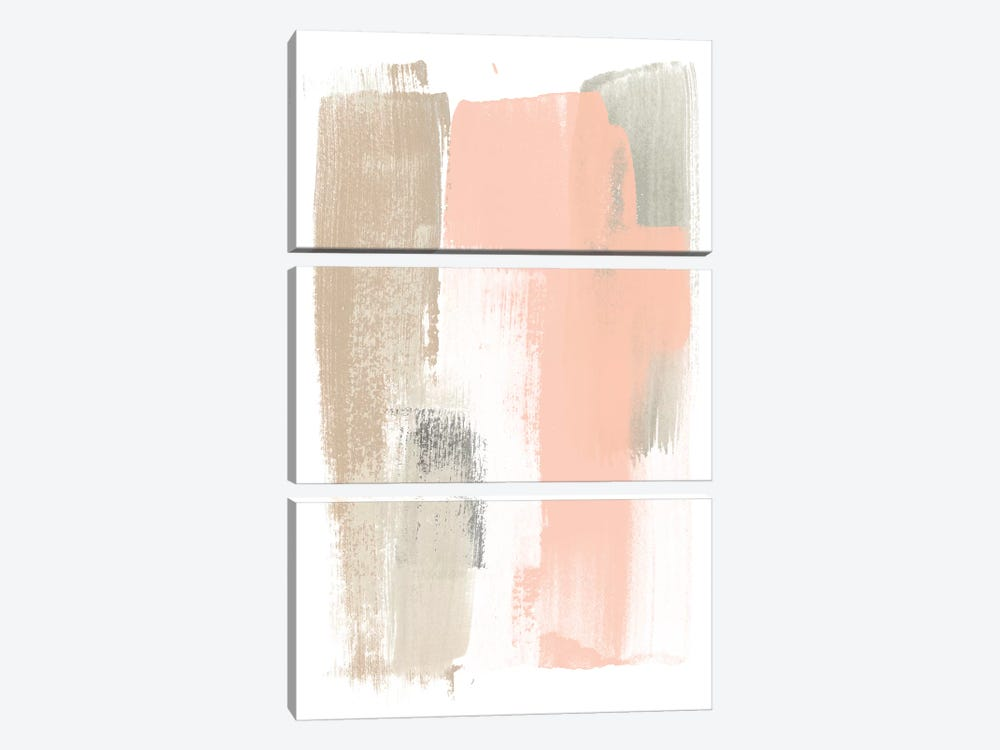Blush Abstract VI by June Erica Vess 3-piece Canvas Art